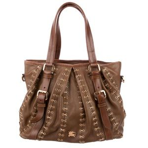SOLD Burberry Metal Stitching Lowery Shoulder Bag